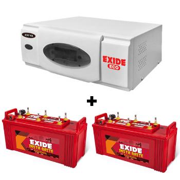 ECO 1500VA Home UPS and 2pcs Exide Insta Brite IB1500