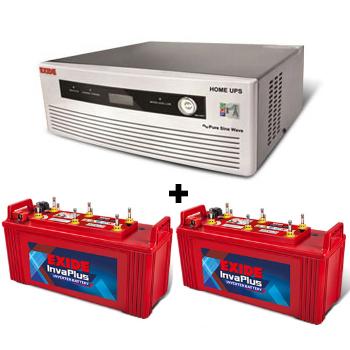 Combo(1400 VA Pure Sine Wave UPS and 2pcs FIP0-IP1350 Battery)