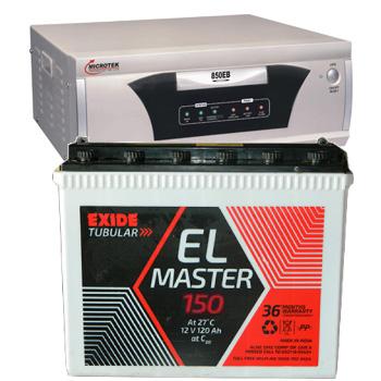 Combo-Microtek EB 700 VA Home UPS and Exide EL Master 150