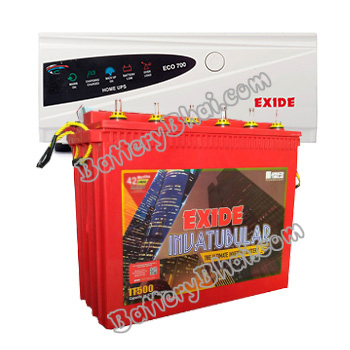 Exide ECO 900VA Home UPS and Exide Inva Tubular IT500