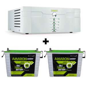 1400 Sine Wave UPS and 2 pcs Amaron AAM-CR-CRTT150