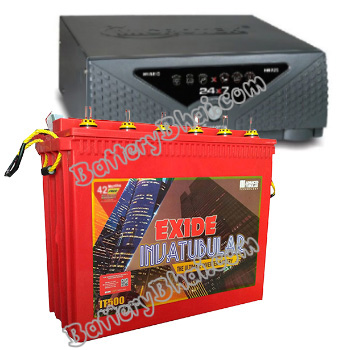 Microtek + Exide Combo Microtek 24x7 Hybrid 1125 VA Home UPS and Exide Inva Tubular IT500