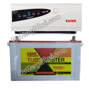 ECO 900VA Home UPS and Exide Tube Master TM500L Plus